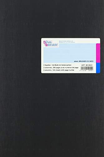 König & Ebhardt 8614523 Geschäftsbuch / Spaltenbuch (A4 mit festem Kopf, 2 Spalten, 32 Zeilen 80g/m², 144 Blatt Fadenheftung mit Seitenzahl)