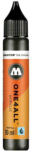 Molotow mo693223Refill one4all, recarga para marcador permanente 30ml, 1pieza, color negro metálico