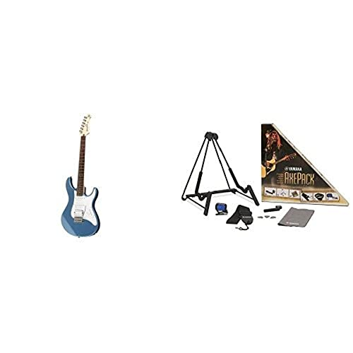 Yamaha Pacifica Series PAC112J Electric Guitar, Lake Blue, with Yamaha Accessories Pack