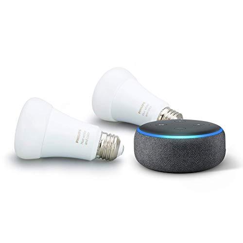 Echo Dot plus 2 Hue Bulbs.