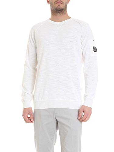 Luxury Fashion | Cp Company Heren 06CMKN171A005403G103 Wit Elasthaan Truien | Seizoen Outlet