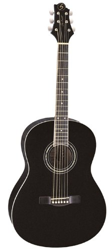 Greg Bennett Design Gold rush ST91 BLK 39-Inch Folk Acoustic Guitar, Black