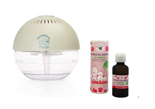 Boles d'Olor Brumizador Esencias para Eliminar Olores de Mascotas. Difusor de Aceites Esenciales. 400 ml con Bruma Frutos del Bosque 50 ml
