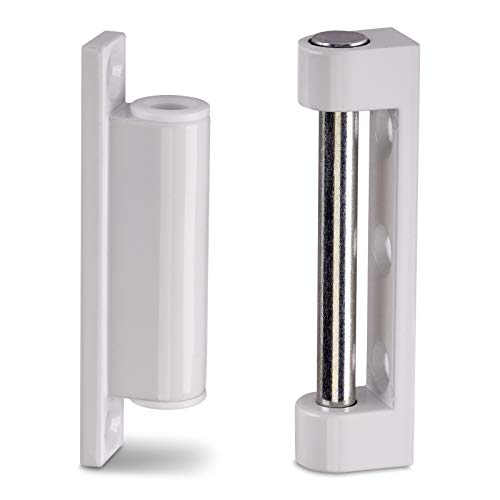2 x Fensterbänder 75 mm Metall weiß RAL 9016 Reparaturbänder Renovierbänder Aufschraubbänder von SO-TECH