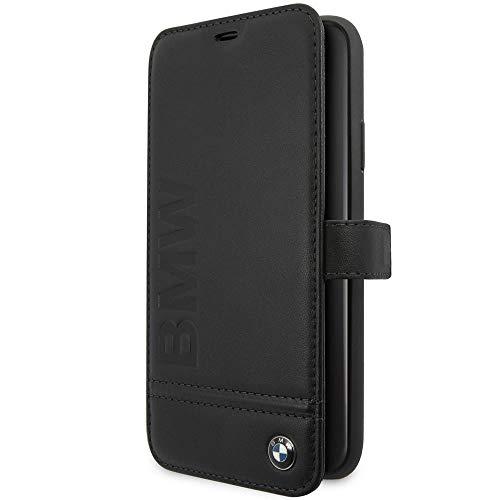 BMW Book-Case Logo Imprint Black Etui Cover Hülle für iPhone 11 Pro