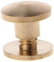 Bouten en moeren 10 paar Brass Chicago Schroeven berichten riemknoop for Leer Boekbinden Crafts Duurzaam (Color : Silver 8mm)