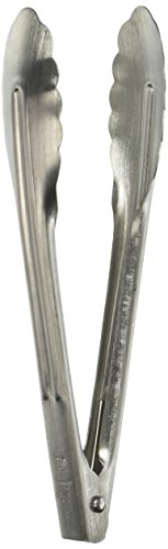 Winco Coiled Spring Heavyweight Stainless Steel Utility Tong, 7-Inch