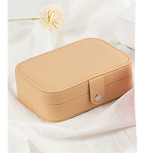Caja de almacenamiento de joyería exquisita y dura Joyería de cuero de protección Caja de almacenamiento Pendientes Anillo Collar Caso Jewel Packaging Travel Cosmetics Organizador de belleza Contenedo