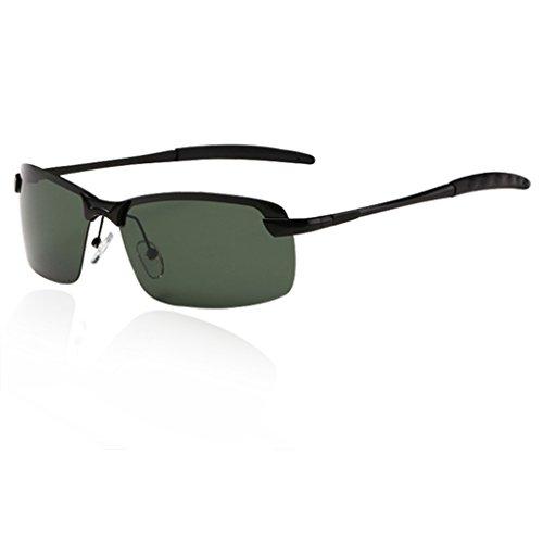 QHGstore Para hombre de gafas de sol polarizadas al aire libre Deportes de Manejo de Eyewear de la lente Negro / verde