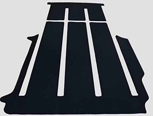 autix 300056820569 Gastraum Kofferraum Teppich Fußmatte Velour schwarz passend für VW T6 California Beach Neu