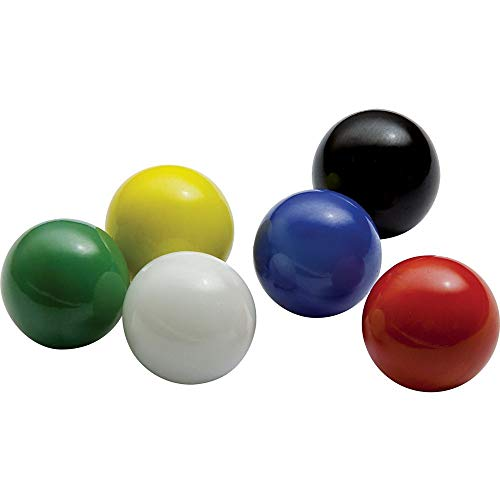 Marbles Mega Game Replacment 14mm -Solid Glass-60 Pieces - Chinese Checkers, Crafting (Multi)