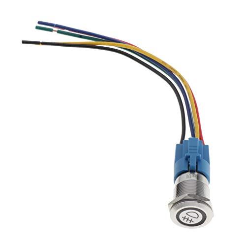 Amagogo Modificación de Bloqueo Automático Del Interruptor de Botón para Vehículos Automotrices Azul - Luces antiniebla delanteras