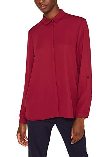 ESPRIT Collection Damen 089EO1F008 Bluse, Rot (Garnet Red 620), (Herstellergröße: 38)