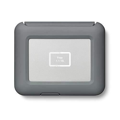 LaCie DJI Copilot 2 TB, tragbare externe Festplatte mit Akku u. CardReader, 2.5 Zoll, USB-C, Mac & PC, Modellnr.: STGU2000400