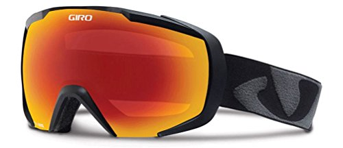 GIRO Masque de ski pour homme Onset Noir Black icon/amber scarlet taille unique