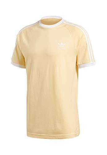 adidas Herren 3-Stripes Tee T-Shirt S leichtes Gelb