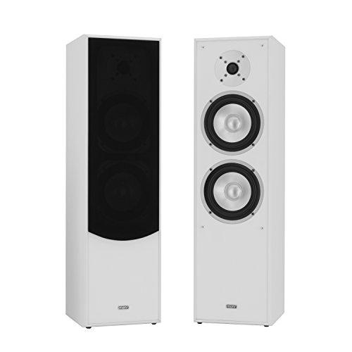 mohr 1 Paar Standlautsprecher SL10, Weiss Lautsprecherboxen, HiFi Klang zum günstigen Preis