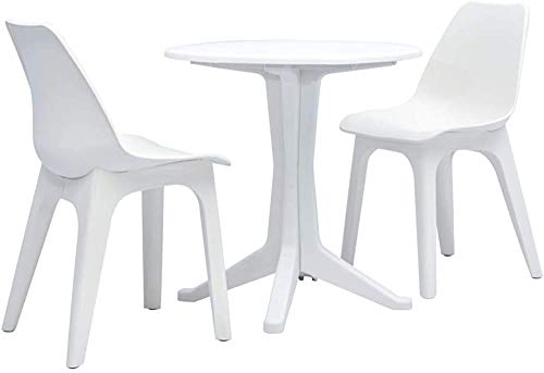 Tres pequeñas entorno del restaurante al aire libre plástico de jardín mesa de muebles y sillas,White