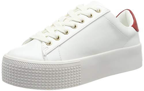 Steve Madden Pickup Sneaker, Zapatillas Mujer, Rojo (Red Multi 634), 39 EU