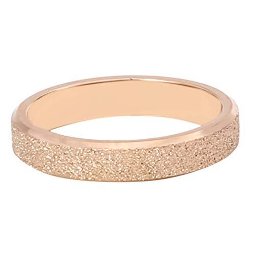 #N/A Ristiege - Anillo de arena con perla creativa, anillo de acero de titanio esmerilado para parejas, accesorios de joyería, 18,1 mm