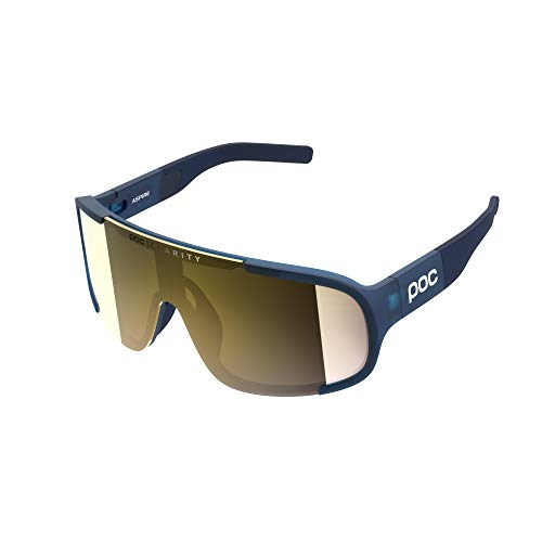 POC Aspire Sonnenbrille, Sportzubehör, Erwachsene, Unisex, Blau (Lead Blue), Einheitsgröße