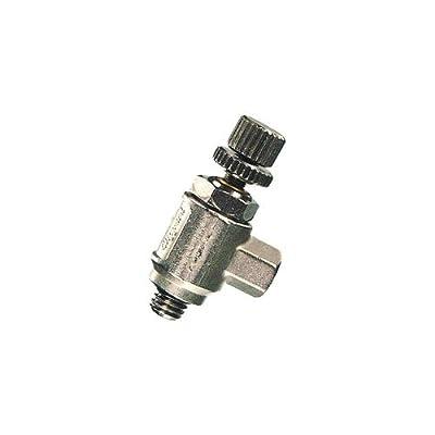 Clippard MNV-4K Miniature Needle Valve, 10-32 Ports with Knurled Knob, 5 scfm @ 100 psig by Clippard