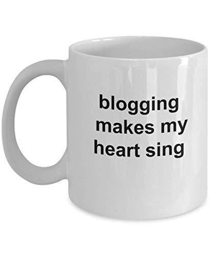 Taza de blogger, regalos de blogging, bloguear hace que mi corazón cante, regalo de blogger, taza de café divertida