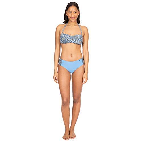 Trespass Jessica Top de Bikini Bandeau con Tirante del Cuello y Relleno extraíbles, Mujer, Estampado Mosaico, S