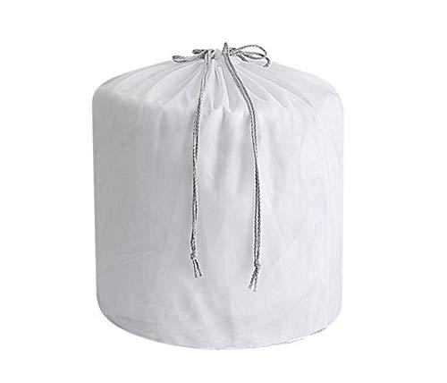 Icegrey Wäschenetz Wäschesack Waschmaschine mit Kordelzug für Babywäsche, Unterwäsche, Socken, Kaschmir, Strümpfe und Baby Kleidung, Weiß Feines Netz, M: 30 x 40 cm (5 Stück)