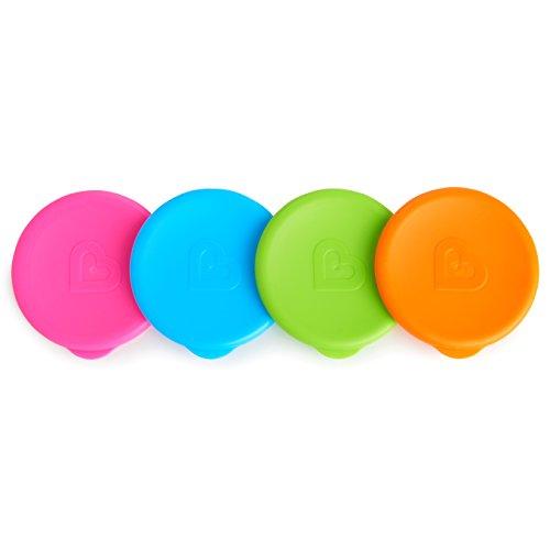 Munchkin  - Tapas para los Vasos Miracle, adaptable a todos los estilos de Vasos Miracle, Multicolores, pack de 4