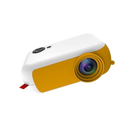 KIUY Mini proyector, proyector de Video Proyector de películas al Aire Libre, proyector de Cine en casa portátil, Compatible con HDMI USB Laptop Mobile Dry Disk Phone Amarillo