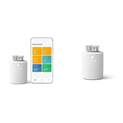 tado° Smartes Heizkörper-Thermostat Starter Kit V3+ - Intelligente Heizungssteuerung + Smartes Heizkörper-Thermostat (Universelle Anbringung) - Zusatzprodukt für Einzelraumsteuerung