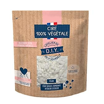 L'Atelier du Do it Youseelf - 2 x 500 g de cera de colza sin OGM sin pesticidas para fabricar su vela – Natural, ecológica, fabricada en Francia – Fabricar su vela casera