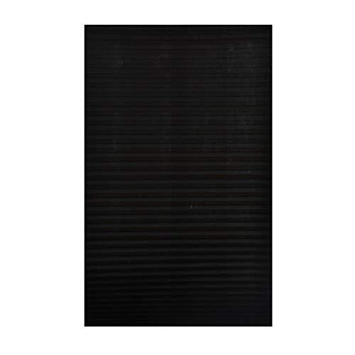 PENVEAT Hochwertiger Plissee-Papiervorhang-Lichtfilterkleber für kabellose Innenmontage, VE, 90 cm x 150 cm, schwarz