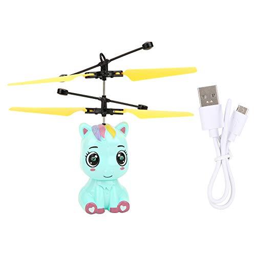 Yinuoday RC Hubschrauber, fliegende Spielzeuge, fliegender Ball, Cartoon-Spielzeug mit LED-Lichtern, Handfernbedienung, Helikopter für Kinder, Mini-Drohne Fallschirm für Jungen und Mädchen, Geschenke