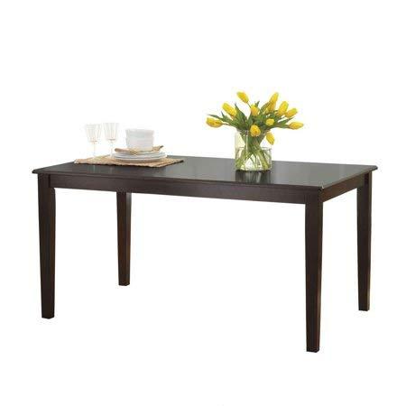 Better Homes and Gardens Bankston Rectangle 6-Person Dining Table, 58.5' L x 35.5' W x 30' H (Espresso) (Espresso)