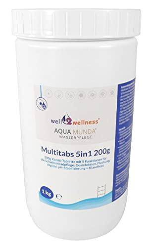 Aqua Munda Wasserpflege Premium Pool Multitabs 5in1 200g 1,0 kg