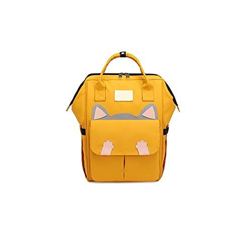 ZWRY Zaino Bambino Grandi borse per la scuola media Borsa per studenti Donna Zaino da viaggio impermeabile Zaini per bambini LemonYellow