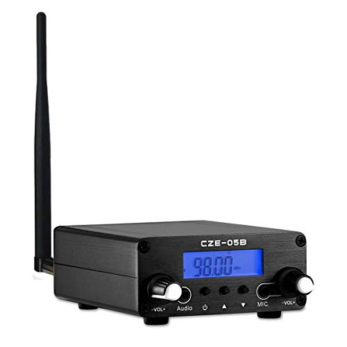 FM Transmitter for Church, Aupabu 0.1w / 0.5w Long Range Wireless Stereo Broadcast with Antenna for Drive in Parking Lot, Movie, Radio Station