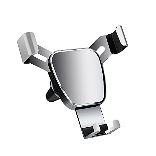 Soporte para Teléfono Gravity Air Vent, MoreChioce Soporte para Teléfono Celular para Automóvil Ventilación Antideslizante Soporte de Coche Compatible con11 Pro XS XR 8 7 S10 S9 S8 iP30 P20,Plata