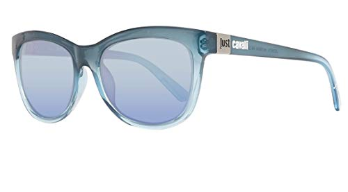 Just Cavalli Sonnenbrille JC567S 5592W Occhiali da Sole, Blu (Blau), 55 Donna