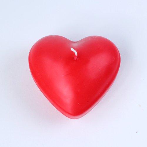 """Schwimmkerzen """"Herz"""" Valentinstag Herzkerze Herzform groß 1 Stück rot Ø ca. 8 cm"""