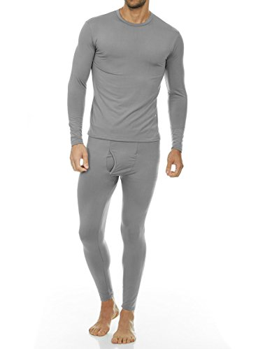 Thermajohn Men's Ultra Soft Thermal Underwear Long Johns Set with Fleece Lined (X-Large, Grey)
