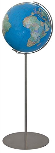 Columbus DUO Leuchtglobus Standmodell Regent: TING-fähig, handkaschiertes Kartenbild auf Acrylglaskugel, Kugeldurchmesser 40 cm, Stativ aus Edelstahl