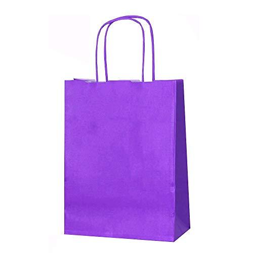 15 Purple SMALL L 31 Cm x W 24 Cm x D 11 Cm Twist Handle Paper Party Gift...