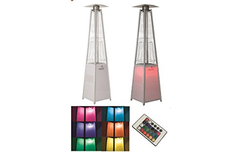 Lifestyle GR336 Tahiti LED Flame Stainless Steel Heater