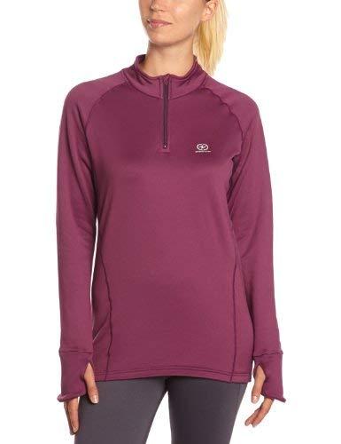 Damartsport T-Shirt col zippé Femme Violet FR : M (Taille Fabricant : 42-44 cm)