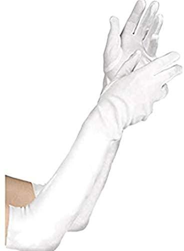 Amscan 840203 Child Long White Gloves, 1 Pair, 14.2' x 4.7'