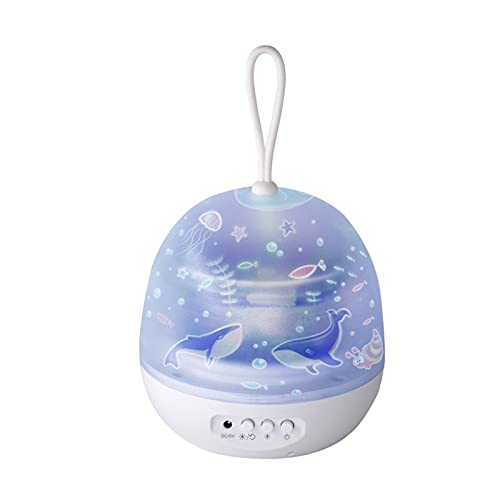 NONGFU Wangtao Store Starry Sky Night Light Planet Proyector Magic Universo Tierra DIRIGIÓ Lámpara Colorful Gire Flashing Star Kids (Lampshade...