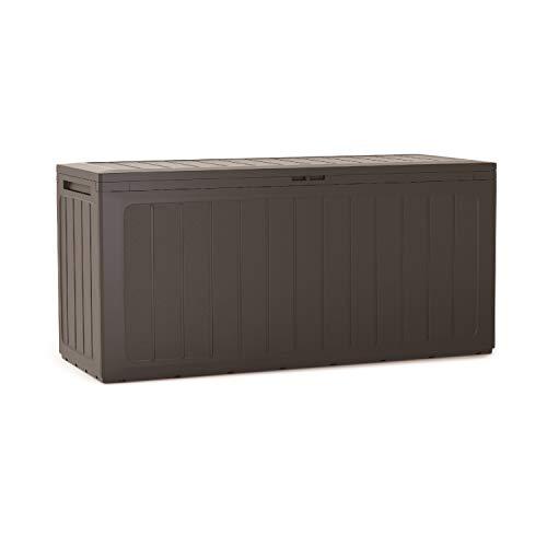 Prosperplast Boardebox tuinbox kussenbox tuinkist afsluitbaar 280 Liter umbra